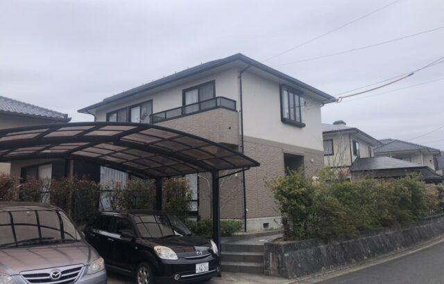 2月完工物件 その③ 東広島市高屋高美が丘O様邸 屋根塗装 外壁塗装